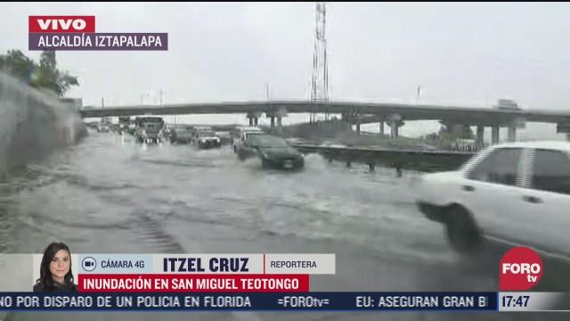 lluvia provaca inundacion en san miguel teotongo iztapalapa