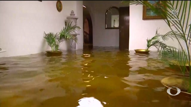 casas inundadas en la alcaldía coyoacán tras intensas lluvias en CDMX