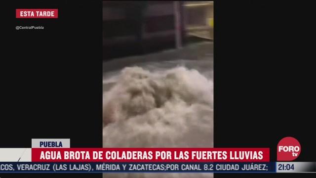lluvias colapsan drenaje en puebla