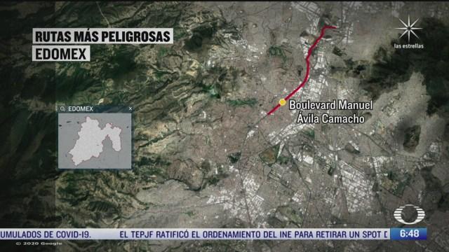 los sitios donde ocurren mas asaltos en el transporte publico en el estado de mexico