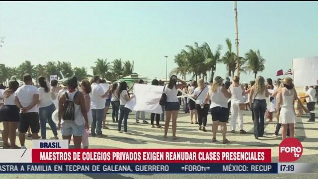 maestros piden retorno a las aulas en brasil