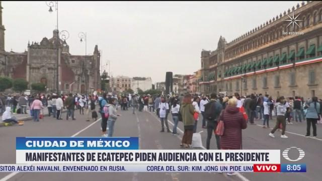 manifestantes de ecatepec piden audiencia con el presidente lopez obrador