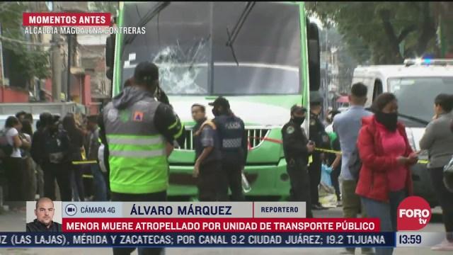 menor muere atropellado por microbus en la alcaldia magdalena contreras