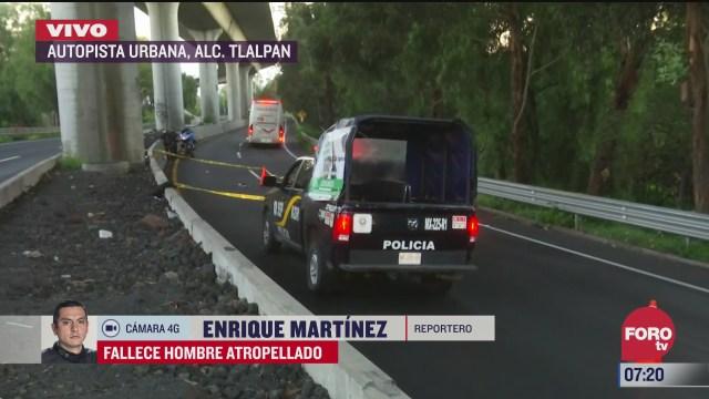 muere hombre atropellado en la autopista urbana en cdmx