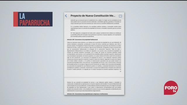nueva constitucion mexicana 2020 la paparrucha del dia