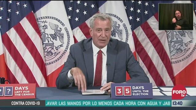 el alcalde de nueva york informó que multará a quien no use cubrebocas