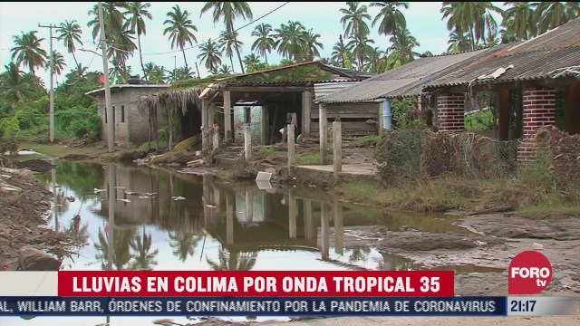 onda tropical 35 provoca intensas lluvias en colima
