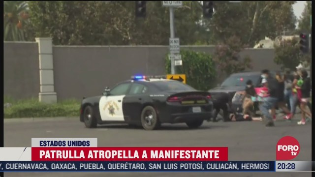 patrulla atropella a manifestante en estados unidos