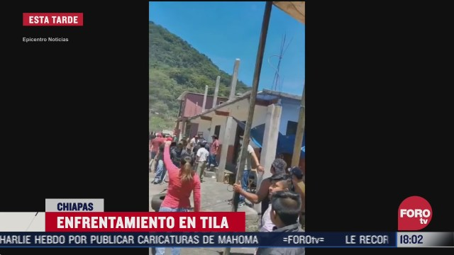 pobladores y ejidatarios se enfrentan en tila chiapas