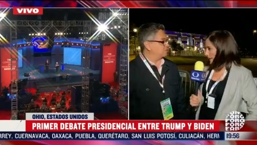 primer debate presidencial de eeeu a minutos de iniciar