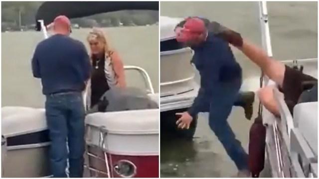 Propuesta de matrimonio en bote acaba con el novio en el agua y la mujer en piso