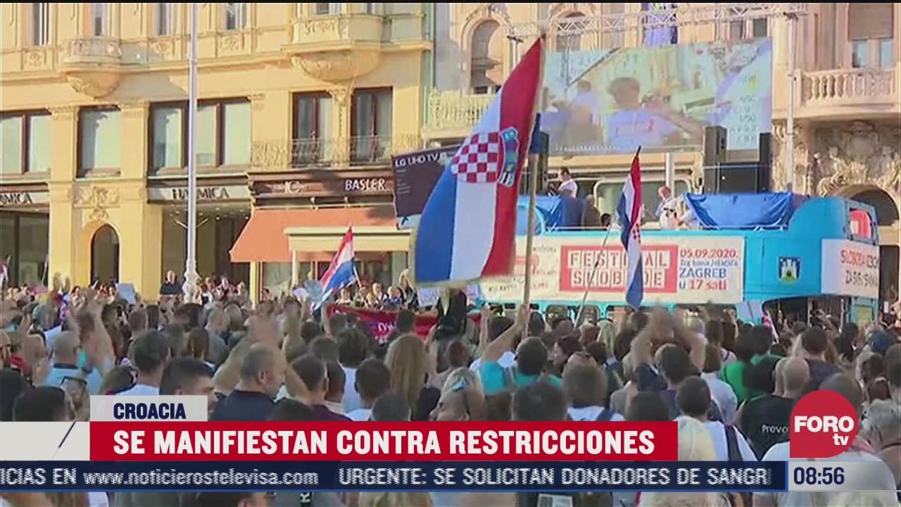 protestan bailando contra restricciones por covid 19 impuestas en croacia