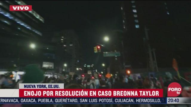 protestan en nueva york por resolucion en caso breonna yaylor