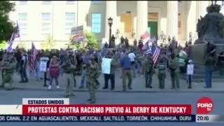 protestan por racismo antes del derby de kentucky en eeuu