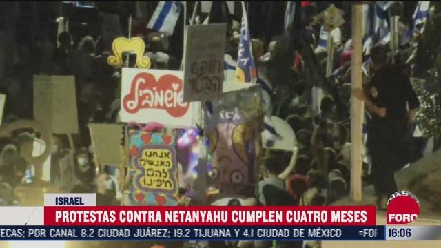 protestas contra netanyahu cumplen cuatro semanas