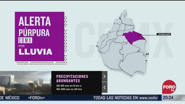 Alerta Púrpura por lluvia en CDMX, ¿qué significa?