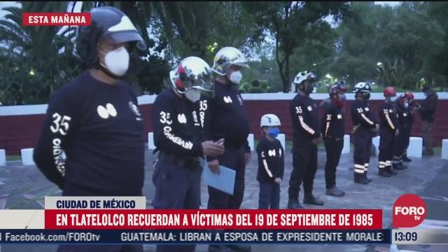 recuerdan a victimas del sismo de 1985 en tlatelolco