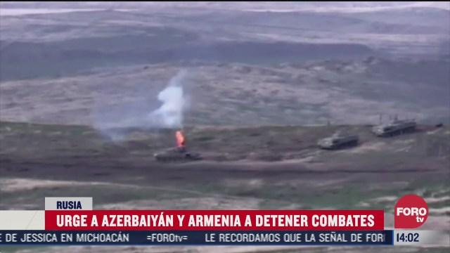 rusia pide cese de hostilidades entre azerbaiyan y armenia