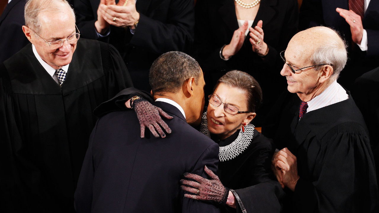 Ruth Bader Ginsburg, Barack Obama, liberalismo