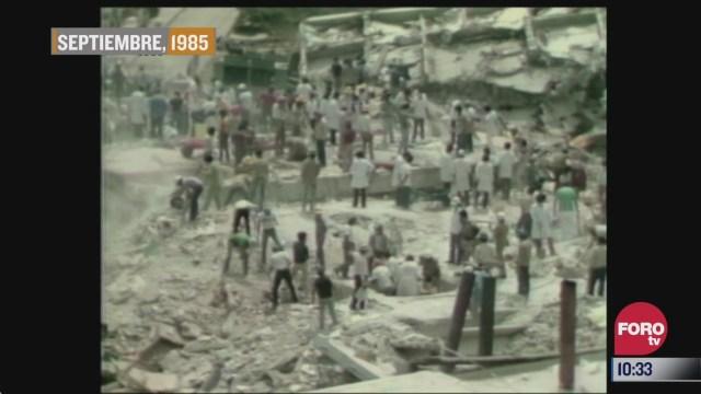 se cumplen 35 anos del sismo del 19 de septiembre de