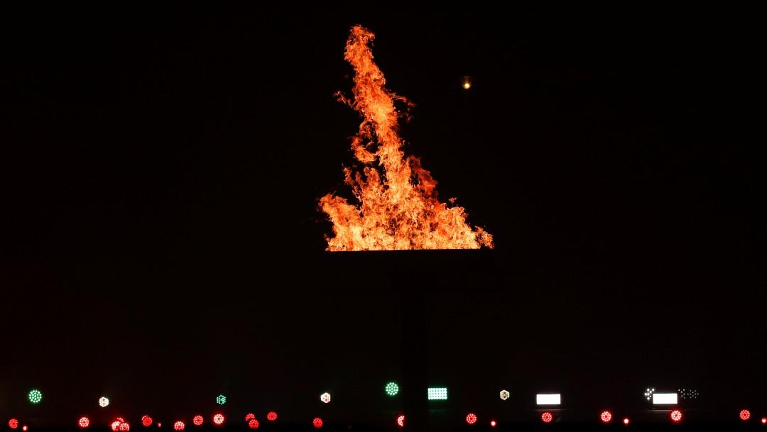 Se encendió la llama de la Esperanza en el Zócalo de la CDMX