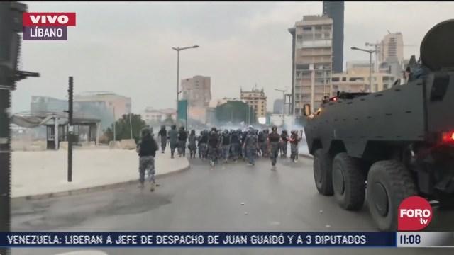 se reportan choques violentos en libano