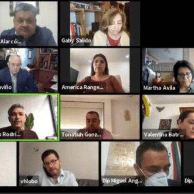 Sesión virtual en la Cámara de Diputados de la CDMX
