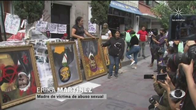 instalaciones de CNDH localizadas en el Centro Histórico de la CDMX tomadas por familiares de víctimas de feminicdios