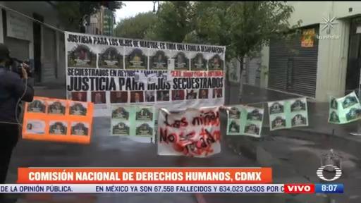 siguen tomadas oficinas de la cndh en la ciudad de mexico