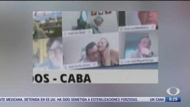 suspenden a diputado por conducta impropia en sesion virtual en argentina