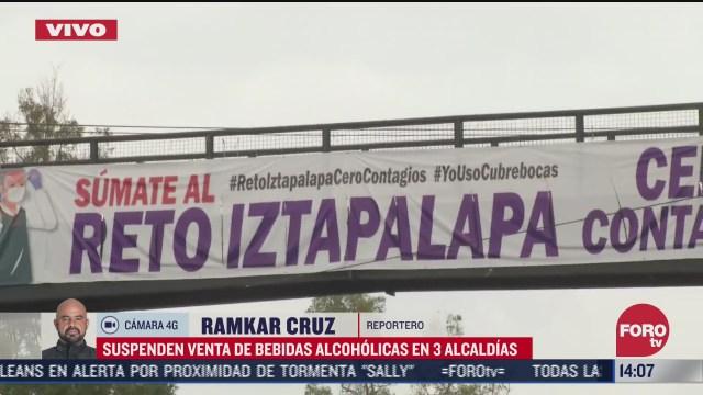 suspenden venta de bebidas alcoholicas en tres alcaldias de cdmx