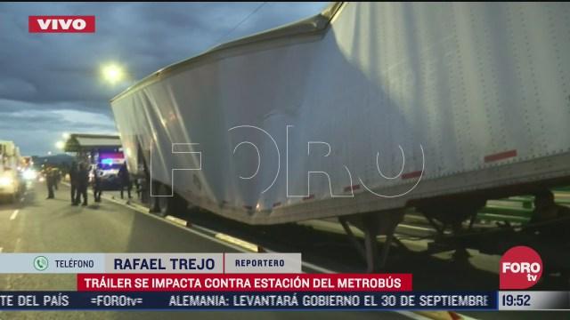 trailer choca contra estacion hospital troncoso del metrobus cdmx