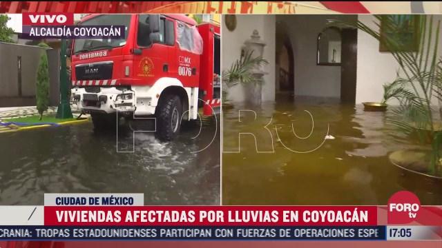 unas 15 casas en coyoacan resultan afectadas por la lluvia