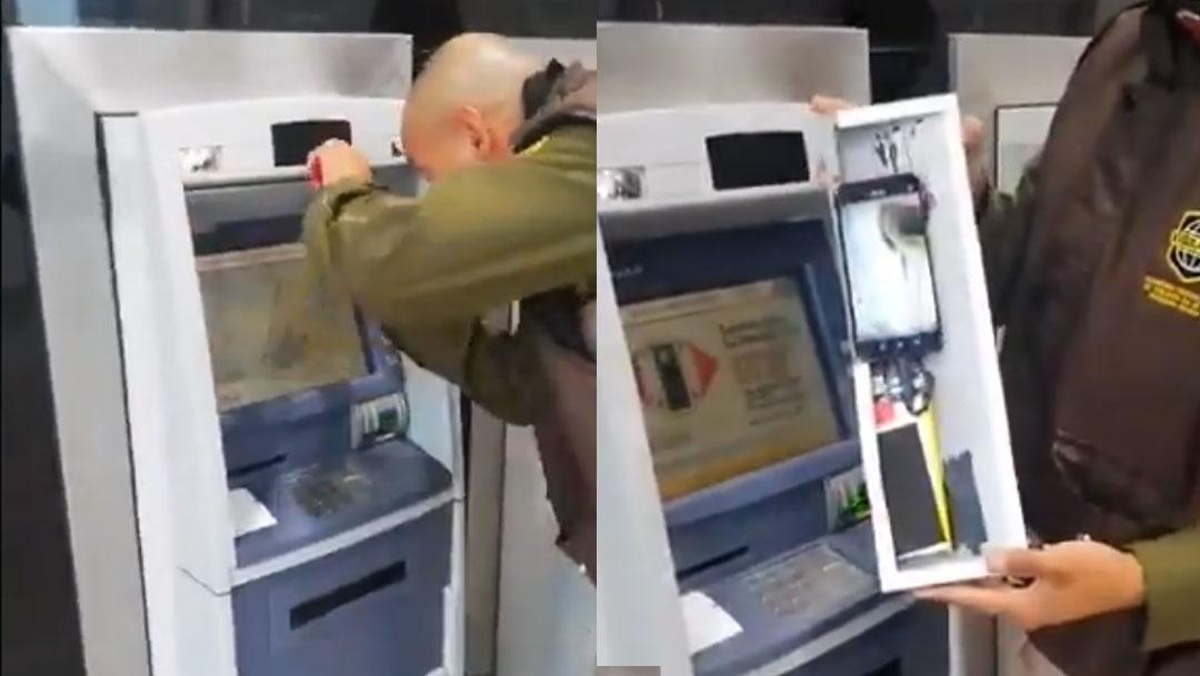 Nueva modalidad de robo de NIP de tarjetas en cajero. Video muestra como funciona, Captura De Pantalla
