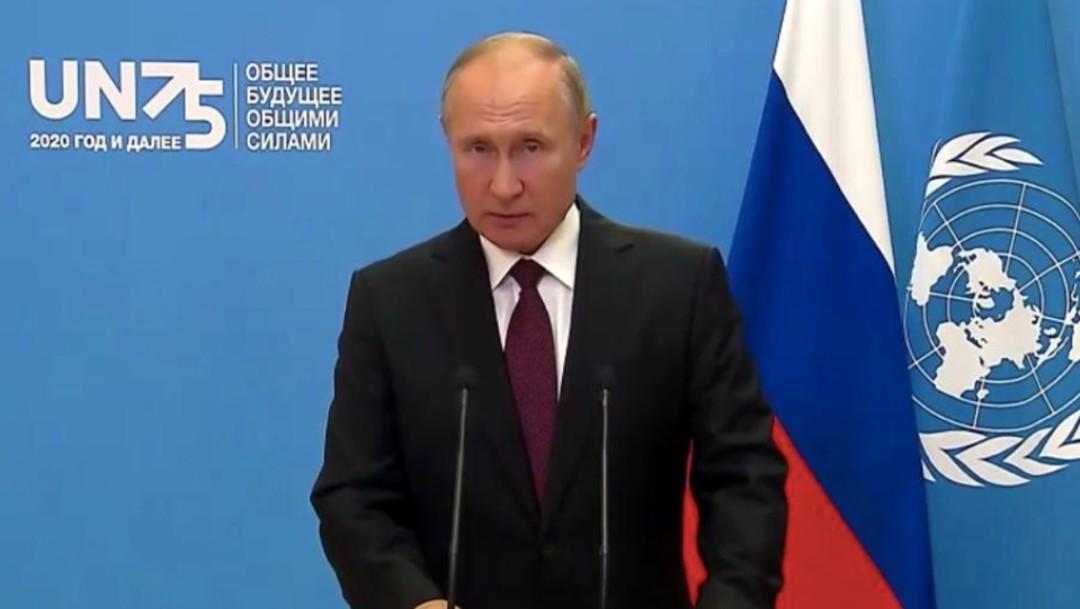 El presidente de Rusia, Vladímir Putin, durante su participación en la Asamblea General de la ONU