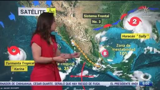 zona de baja presion provocara lluvias en slp hidalgo puebla veracruz y oaxaca