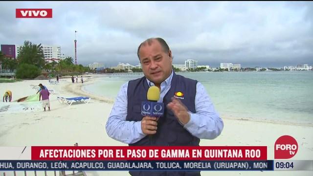 afectaciones por el paso de gamma en quintana roo y yucatan