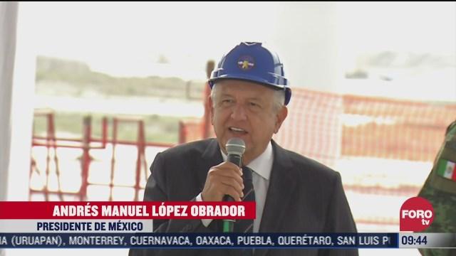 amlo supervisa las obras en el nuevo aeropuerto de santa lucia