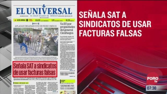 analisis de las portadas nacionales e internacionales del 20 de octubre del