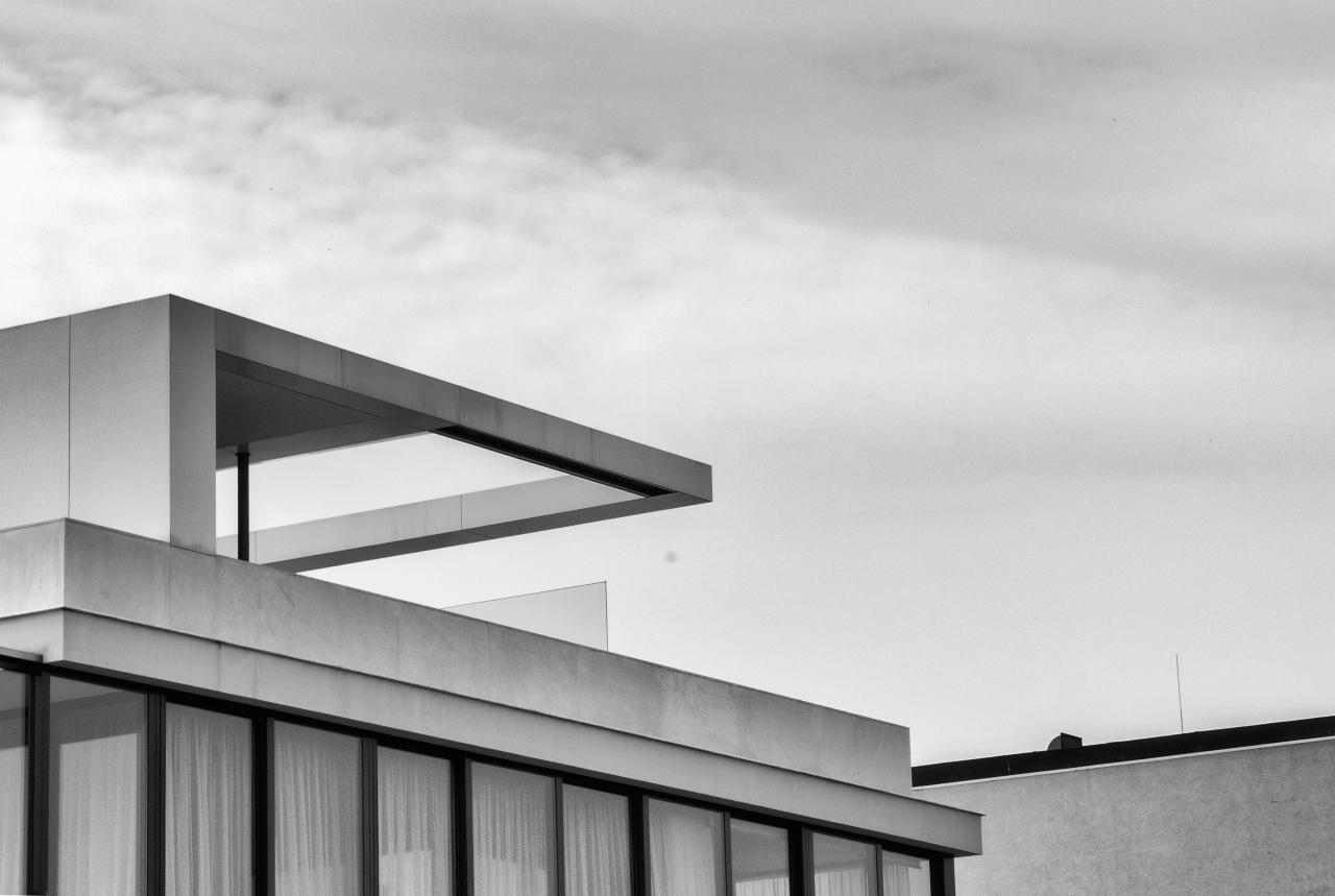 Detalle de un edificio de arquitectura moderna