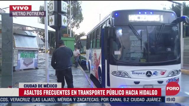 asaltos frecuentes en transporte publico en carretera mexico pachuca