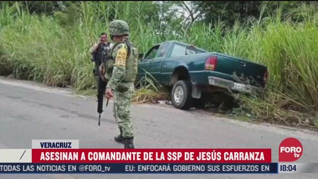 asesinan a comandante de policia de jesus carranza veracruz