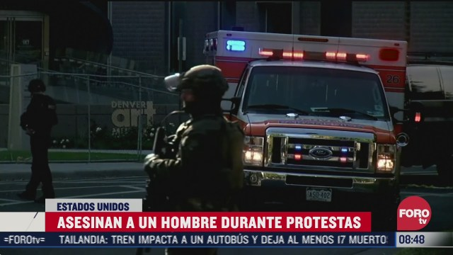 asesinan a un hombre durante protestas en denver eeuu