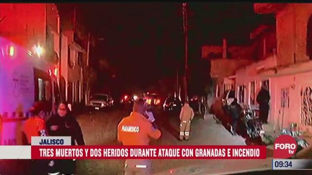 ataque con granadas en jalisco deja tres muertos