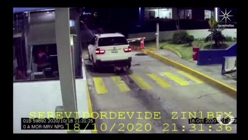 automovilista atropella a manifestante en una caseta de michoacan