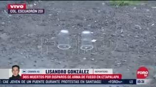 balacera en iztapalapa provoca intensa movilizacion policial