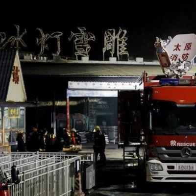 bomberos en ciudad china