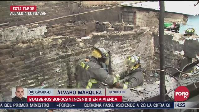 bomberos sofocan incendio en casa de coyoacan