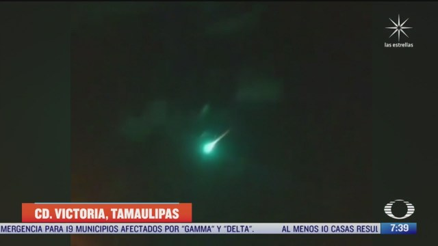 caida de meteorito ocasiona incendio de arbol y arbustos en tamaulipas