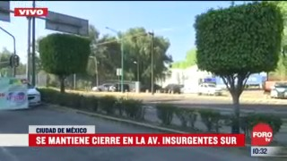 campesinos mantienen bloqueo sobre avenida insurgentes sur